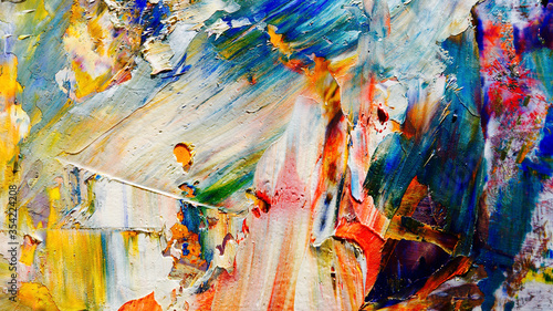 Fototapeta Colorful abstract background wallpaper. Modern motif visual art.  Mixtures of oil paint. Trendy hand painting canvas. Wall decor and Wall art prints Idea.  3D Texture.Colorful abstract  obraz