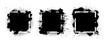 Black grunge with frame vector, Collection of Grunge background, Spray Paint Elements, Black splashes set, Dirty artistic design elements, ink brush strokes, Vector illustration.