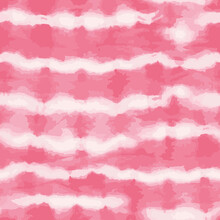 Vector Tie Dye Stripes Seamless Pattern. Hand Drawn Shibori Print. Ink Textured Japanese Background. Modern Batik Wallpaper Tile. Watercolor Endless Backdrop For Fabric, Wallpaper, Scrapbooking