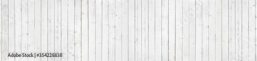 White wood texture background panorama Fototapeta