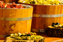 Olives And Peppers For Sale At...
