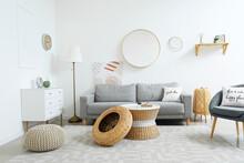Stylish Interior Of Living Roo...
