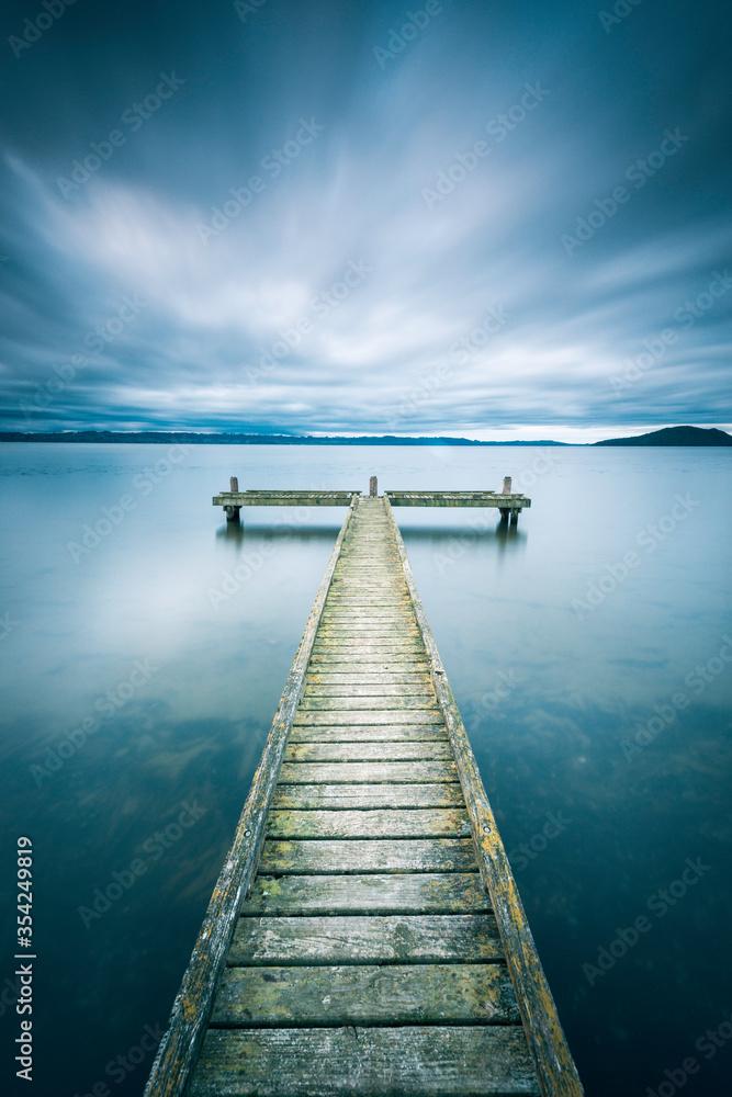 Fototapeta New Zealand - Rotorua - Jetty - Lake