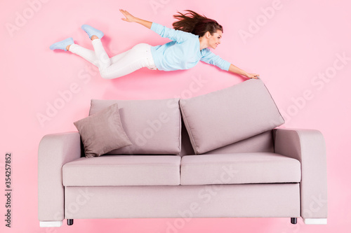 Fototapeta Top view above high angle flat lay flatlay lie concept of her she nice attractiv