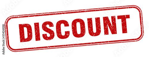Fototapeta discount stamp. discount square grunge sign. label obraz