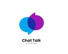 Modern Chat Talk Logo Design Vector Template