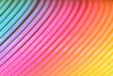 Fototapeta Rainbow - Kolorowa, plastikowa tęcza w mocnym zbliżeniu.