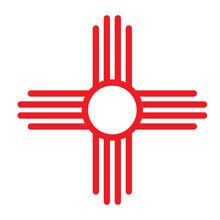Zia Symbol Icon. Clipart Image...