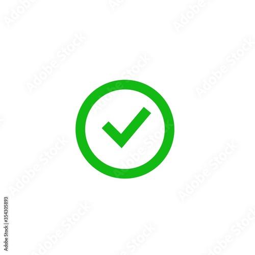 Check mark circle logo icon design vector, check list right answer Wallpaper Mural