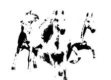 Horse Art Illustration Grunge Painting
