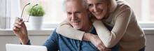 60s Wife Hug Husband Spouses L...