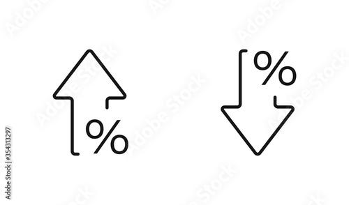 Cuadros en Lienzo Percent arrow isolated icon in line style