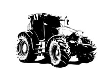 Agricultural Tractor Illustrat...