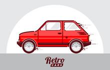 Retro Vintage Car Illustration...