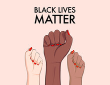 Stop Racism, Multiethnic Equality Concept, Diverse Respect Poster. Tolerance Woman Hands Gesture, Arms Support Girls Banner. Politic Protest 2020, Every Life Matter Vector Template. Anti Racism Sign