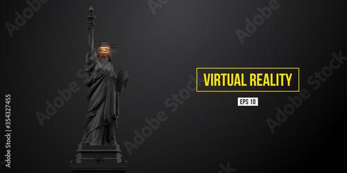 Valokuvatapetti VR headset, future technology concept banner