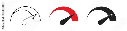 Speedometr logo icon set Wallpaper Mural