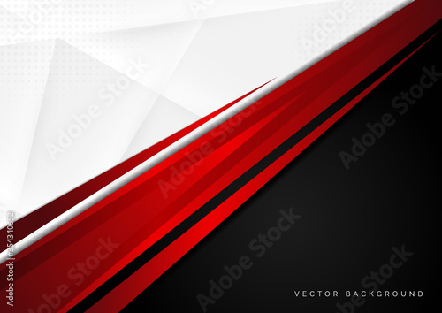 Template corporate concept red black grey and white contrast background Canvas Print