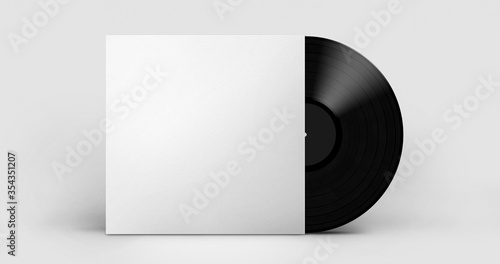 Fototapeta white vinyl album template mock-up