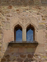 Detail Of Double Gothic Window...