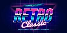 Retro Classic Editable Text Ef...