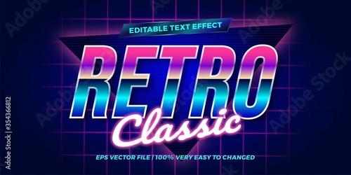 Fényképezés Retro Classic Editable text effect concept