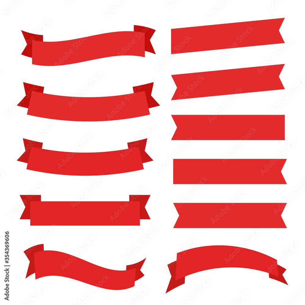 Fototapeta Ribbons banner great design. Ribbons banner graphic element vector. Ribbons banner background.