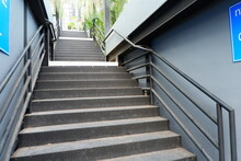Stairs Made Of Metal, Leading ...