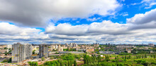 Panorama Of Cityscape With Big...