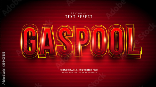 Fotografía Gaspool Text Effect