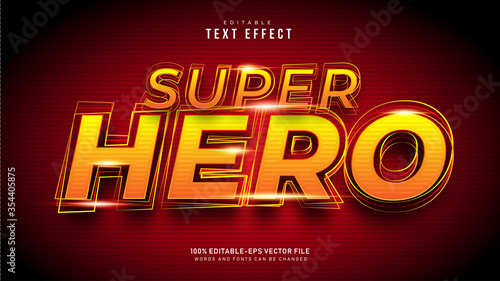 Fotomural Super Hero Text Effect