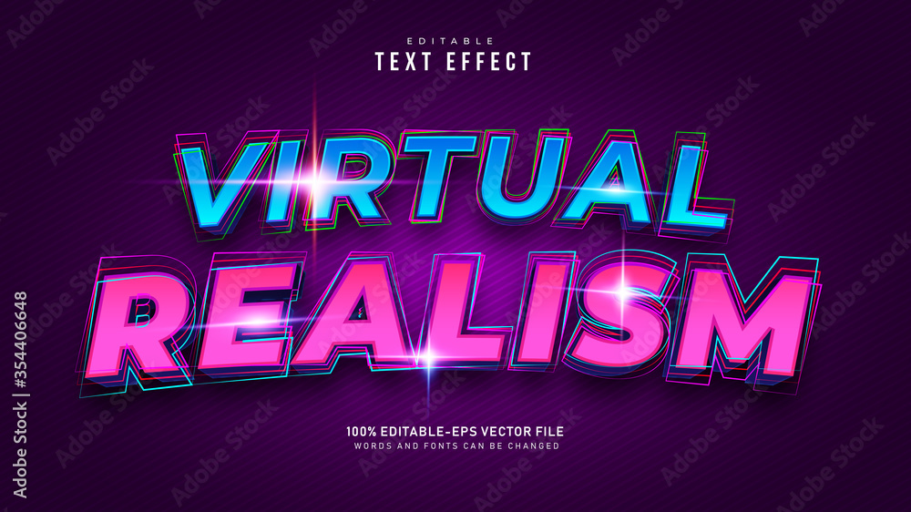 Fototapeta Virtual Reality Text Effect