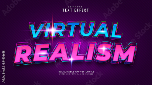 Virtual Reality Text Effect Canvas-taulu