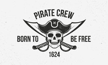 Pirate Vintage Logo Template. ...
