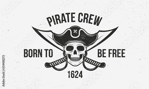 Fotografering Pirate vintage logo template