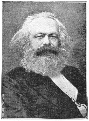 Fotografía Portrait of Karl Marx - a German philosopher, economist, historian, sociologist, political theorist, journalist and socialist revolutionary