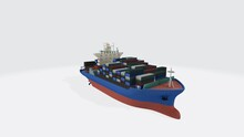 3D Rendering Of A Boat Transport Isolated On A White Background