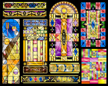 Stained Glass Abstract Vintage...