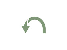 Arrow Curved Icon. Vector Illu...