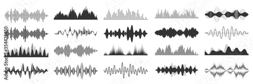 Canvas Print Sound waves collection