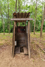 Temporary Wooden WC. Toilet In...