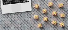 Cubes With Lightbulb Symbols A...