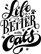 Love Is Better With Cats Lette...