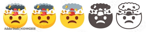 Exploding head emoji Canvas Print