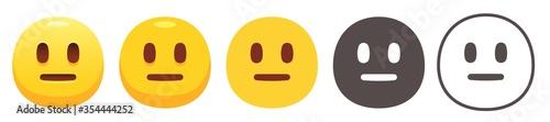 Obraz na plátne Neutral emoji