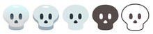 Skull Emoji. Gray Human Skull ...