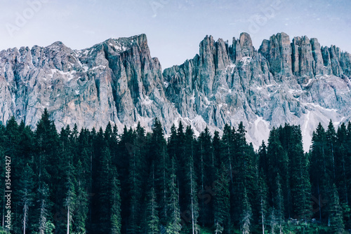 Leinwand Poster scenery and breathtaking dolomites mountains peaks panorama