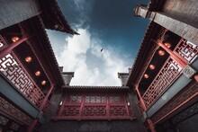 Beautiful Red Shinto Shrine Du...
