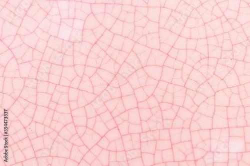 Pink and white crack ceramic tile Wallpaper Mural