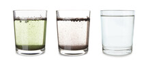 Glasses With Clean And Dirty W...